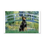 Bridge / Doberman Rectangle Car Magnet