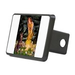 Fairies & Red Doberman Rectangular Hitch Cover