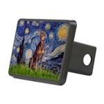 Starry / Red Doberman Rectangular Hitch Cover
