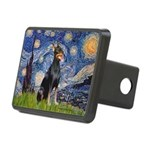 Starry Night Doberman Rectangular Hitch Cover