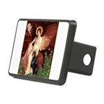 Seated Angel & Dobie Rectangular Hitch Cover