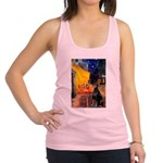 Cafe & Doberman Racerback Tank Top