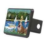 Sailboats /English Bulldog Rectangular Hitch Cover