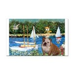 Sailboats /English Bulldog Rectangle Car Magnet