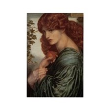 Proserpine by Rossetti Rectangle Magnet