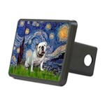 Starry Night English Bulldog Rectangular Hitch Cov