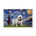 Starry Night English Bulldog Rectangle Car Magnet