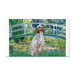 Bridge / English Setter Rectangle Car Magnet