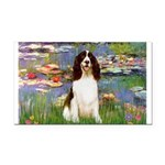 Lilies / Eng Spring Rectangle Car Magnet