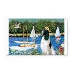 Sailboats / Eng Springer Rectangle Car Magnet
