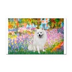 Garden / Eskimo Spitz #1 Rectangle Car Magnet