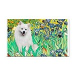 Irises / Eskimo Spitz #1 Rectangle Car Magnet