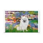 Lilies / Eskimo Spitz #1 Rectangle Car Magnet