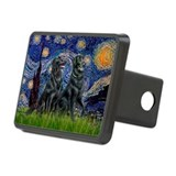 Starry / Two Flat Coated Ret Hitch Cover