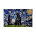 Starry Night FCR Rectangle Car Magnet