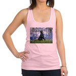 Lilies / Flat Coated Retrieve Racerback Tank Top