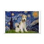Starry / Fox Terrier (W) Rectangle Car Magnet