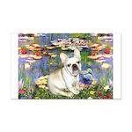 Lilies / Fr Bulldog (f) Rectangle Car Magnet