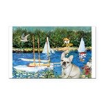 Sailboats / Fr Bulldog(f) Rectangle Car Magnet