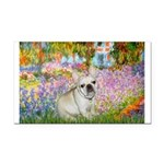 Garden / Fr Bulldog(f) Rectangle Car Magnet