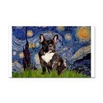 Starry / Fr Bulldog(brin) Rectangle Car Magnet