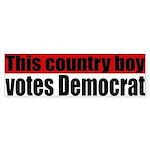 Country Boy Democrat Bumper Sticker