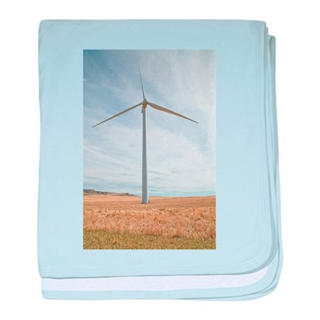 Wind Turbine baby blanket