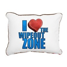 I Heart the Wipeout Zone Rectangular Canvas Pillow