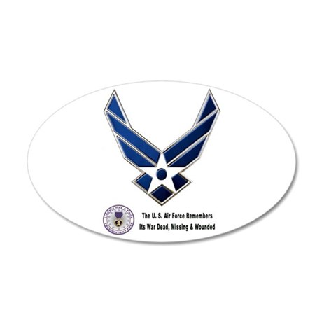 USAF Remembers 20x12 Oval Wall Decal