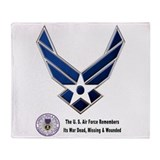 USAF Remembers Throw Blanket