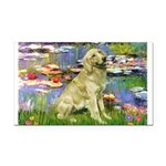 Lilies & Golden Rectangle Car Magnet