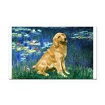 Lilies (#5) & Golden (1B) Rectangle Car Magnet