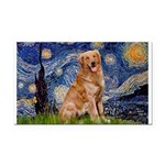 Starry Night Golden Rectangle Car Magnet