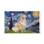 Starry Night & Golden Rectangle Car Magnet