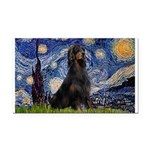Starry Night & Gordon Rectangle Car Magnet