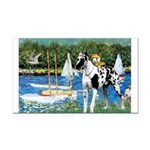 Sailboats / Gr Dane (h) Rectangle Car Magnet