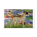 Lilies / Gr Dane (f) Rectangle Car Magnet