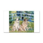 Bridge / Great Pyrenees (2) Rectangle Car Magnet
