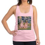 Bridge / Great Pyrenees (2) Racerback Tank Top