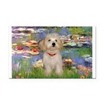 Lilies / Havanese Rectangle Car Magnet