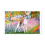 Garden / Ital Greyhound Rectangle Car Magnet