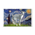 Starry Night/Italian Greyhoun Rectangle Car Magnet