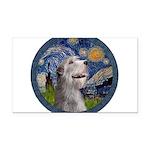 Starry Irish Wolfhound Rectangle Car Magnet