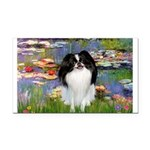 Lilies (#2)/Japanese Chin Rectangle Car Magnet