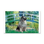 Bridge / Keeshond Rectangle Car Magnet