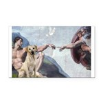 Creation/Labrador (Y) Rectangle Car Magnet
