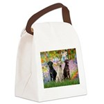 Monet's Garden & Lab Trio Canvas Lunch Bag