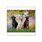 Monet's Garden & Lab Trio Square Sticker 3