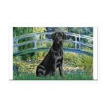 Bridge & Black Lab Rectangle Car Magnet
