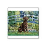Bridge / Labrador (Choc) Square Sticker 3